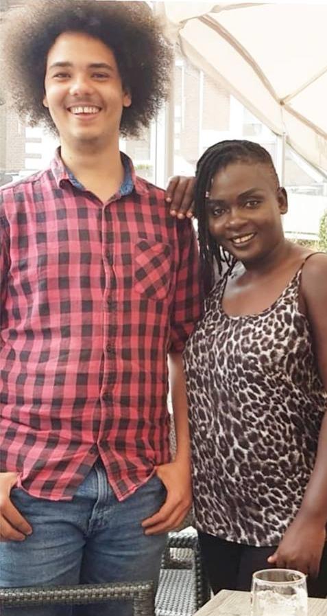 Nyota Ndogo with a grown Malik