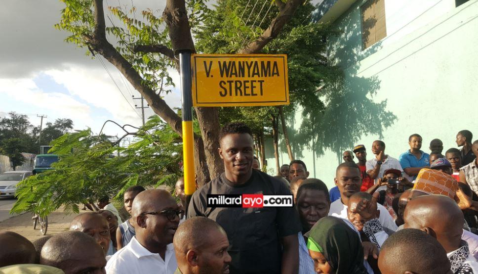 Victor Wanyama in Dar when he visited Tanzania in June 2017