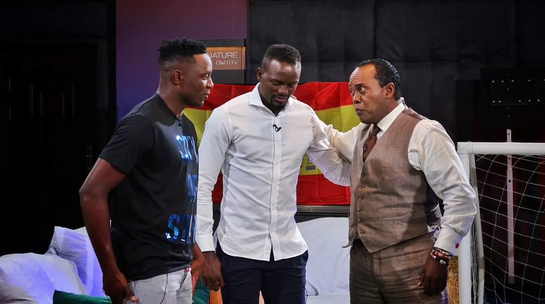 Victor Wanyama, McDonald Mariga and Jeff Koinange
