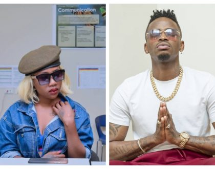Wee shoga nini! Prezzo's ex girlfriend Amber Lulu calls out Diamond Platnumz for wearing ankle bracelet (Photos)