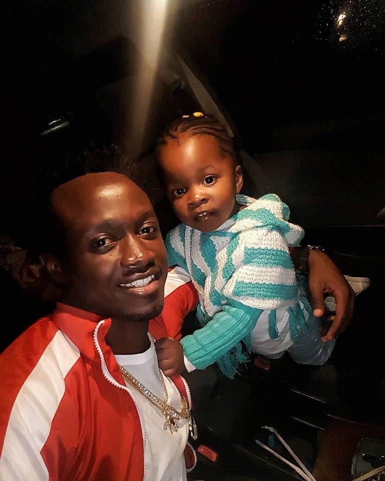 Bahati with his daughter Mueni