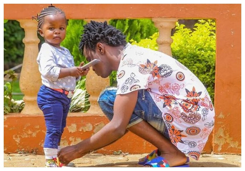 Bahati with his daughter Mueni Bahati