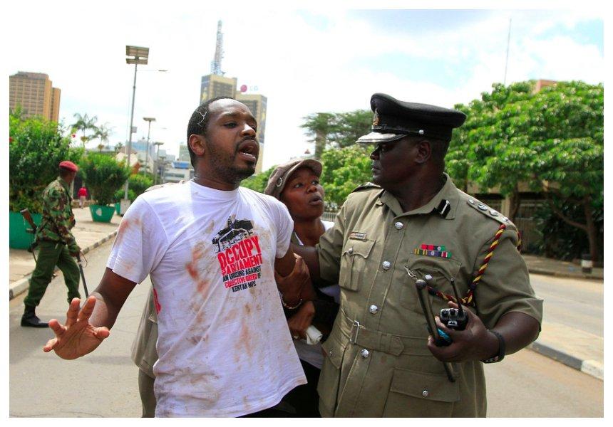 Man with iron balls! Boniface Mwangi celebrates 35th birthday in court (Photos)