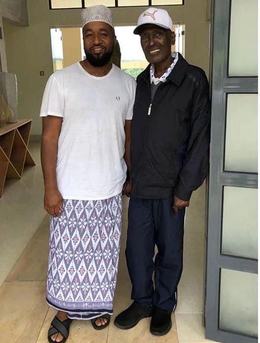 Hassan Joho and Chris Kirubi. The photo was taken in June 2018