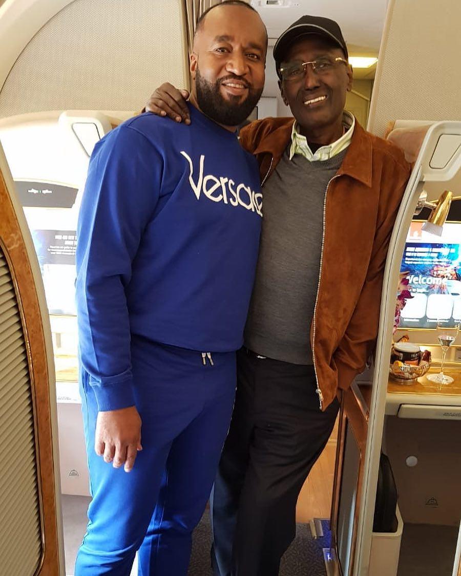 Hassan Joho and Chris Kirubi. The photo was taken on July 18th 2018