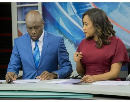 Betty Kyallo come see this! Debutant duo Dennis Okari and Olive Burrows prove they have chemistry on screen