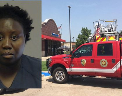 Shock as Kenyan woman tries robbing a bank in the US using a hammer(video)