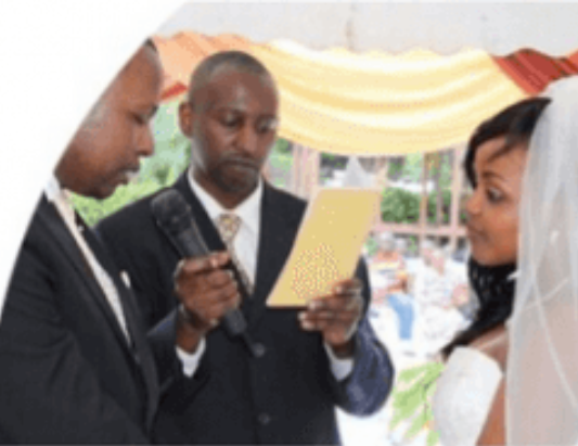 Kevin Mutisya and Jane Musyoka during their wedding