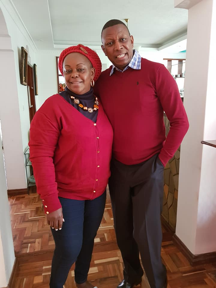 Millie Odhiambo with her husband