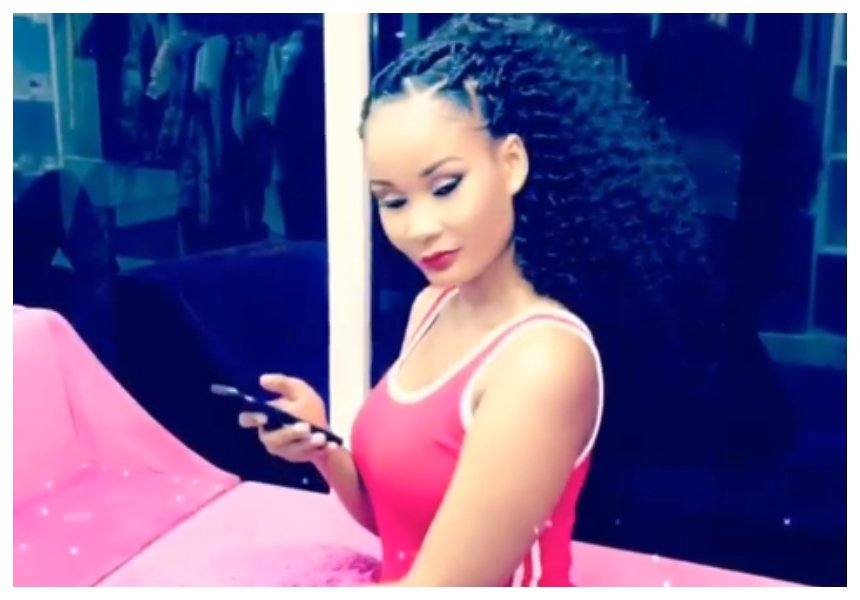 Drama queen! Hamisa Mobetto kicks journalists out of her beauty shop (Video)