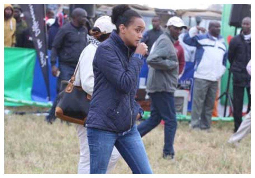 Kenyansdecipher new tattoo on Ngina Kenyatta's right hand (Photos)