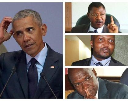 Obama in trouble! Moses Kuria, Wetangula and Boni Khalwale launchscathing attacks on former US president