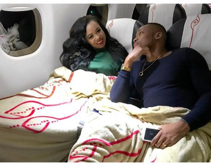 Drama at JKIA as Otile Brown and Vera Sidika fly out to Mauritius (Photos)