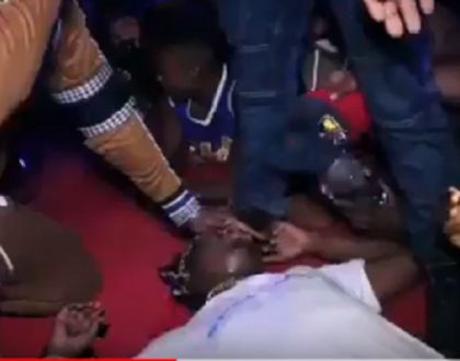 Video: Popular Wasafi singer faints on stage after receiving kiss from hot female fan