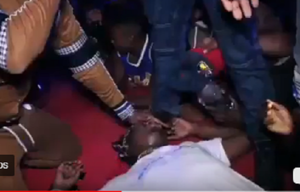 Video: Popular Wasafi singerfaints on stage after receiving kiss from hot female fan