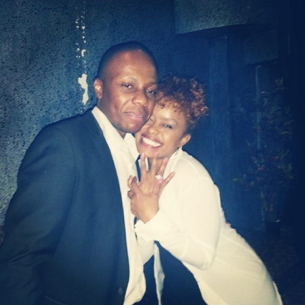 Avril and ex fiance Leslie Mugadza