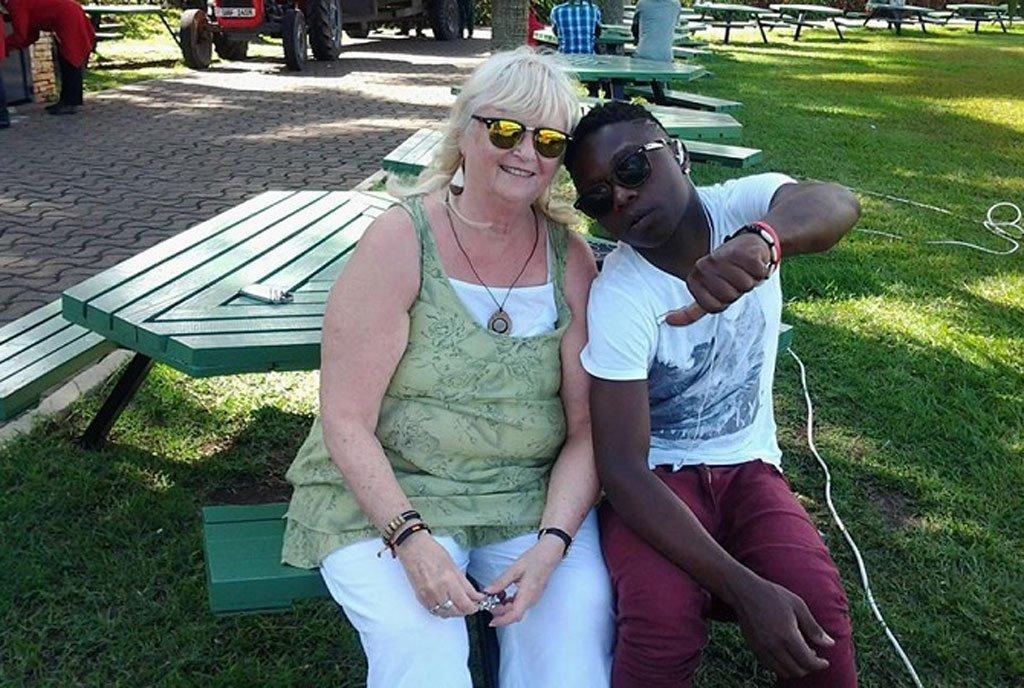 Mona-lisa Larsson with her sweetheart Aziz Maganda