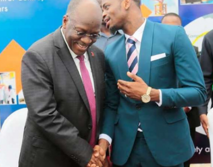 Diamond's special message to Magufuli after Tanzania bought a plane