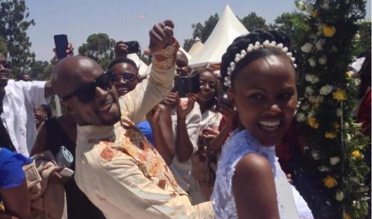 Mark Masai and Fiona Nduta during their wedding