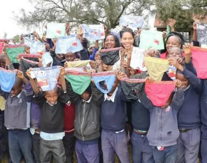 First Lady Anne Kimemia shamed after donating over-sized under wears to boys barely out of pampers