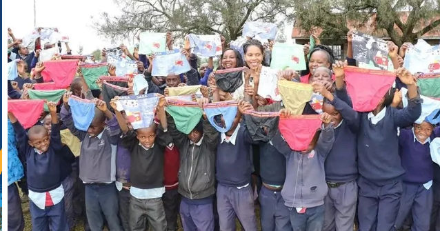 First Lady Anne Kimemia shamed after donating over-sizedunder wears to boys barely out of pampers