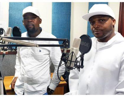 """Milele FM 93.6 uko ndani"" Jalang'o and Alex Mwakideu rehearse for their new show on Milele FM"