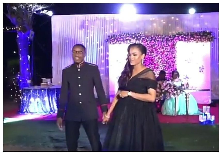 All eyes below the bust! Curious netizens struggle to catch a glimpse of Alikiba's wife's baby bump (Video)