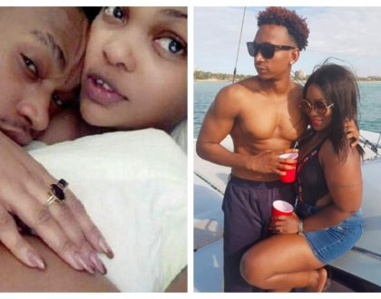 Chunga asileak n*des! Kenyan socialite Mishi Dora in a romantic ride on a yacht with Wema Sepetu's ex Calisah (Photos)