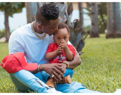 """Kama mimi umepitia mengi ukiwa mdogo"" Diamond urges Hamisa Mobetto's son to emulate him in his birthday message"