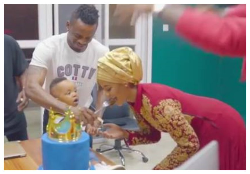 His heart is with Hamisa Mobetto! Diamond attends Dylan's birthday a day after skipping Tiffah's birthday (Photos)