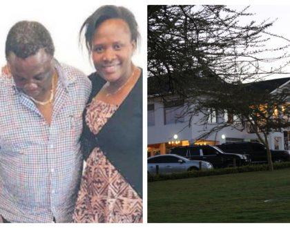 Photos of Francis Atwoli's mega mansion in Kajiado where he lives with his 3rd wife KTN anchorMary Kilobi