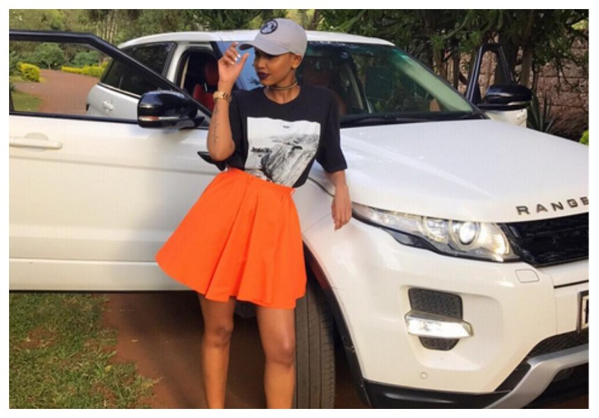 4 SUVs for a girl! Huddah Monroe shows off her insane car collection (Photos)