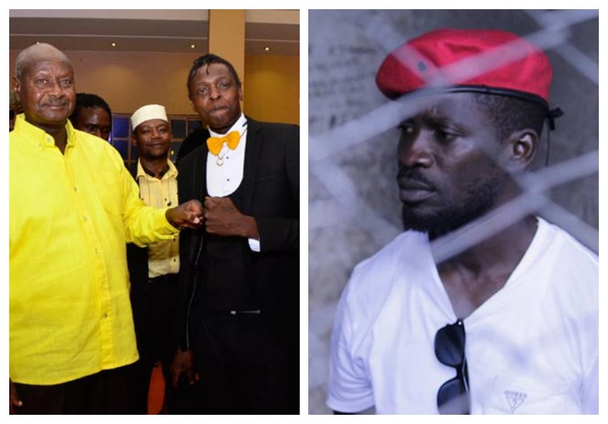 """I understand your car was vandalized but forgive him,"" Chameleone pleads with Museveni to free Bobi Wine"