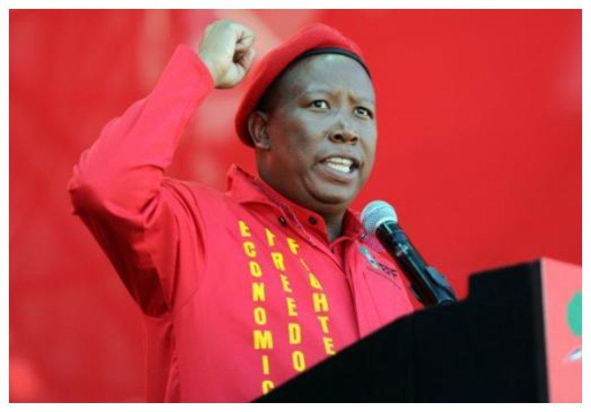 """There is no total independence in Kenya"" South Africa's firebrand politician Julius Malema declares"
