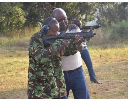 Maina the sharpshooter! Maina Kageni undergoesweapons training (Photos)