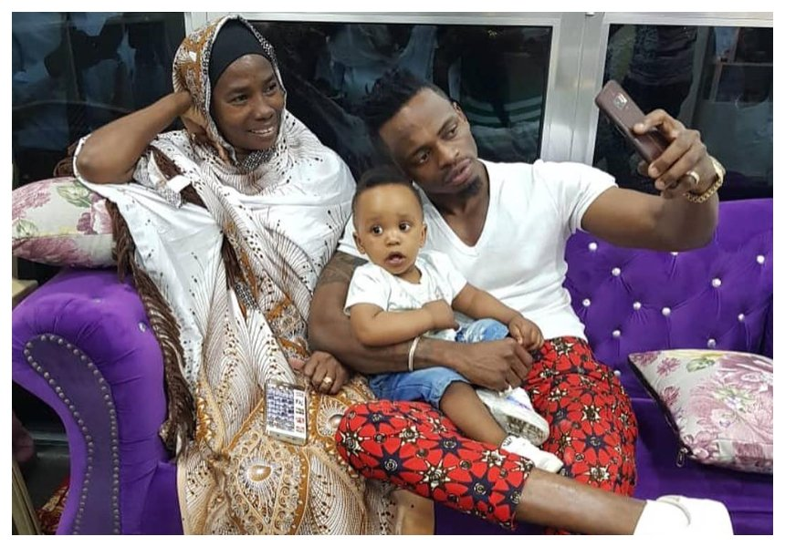 Diamond's mother finally meets Hamisa Mobetto's son after 'disowning' him for more than a year (Photos)