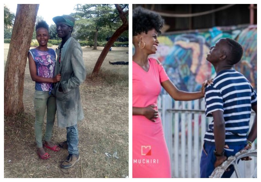 Former street kids Sammy and Virginia who wowed Kenyans with amazing transformation now expecting first child (photos)