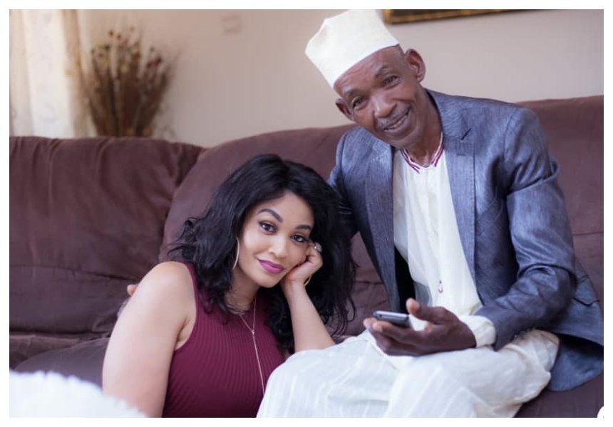 Zari Hassan and her dadNasur Hassan enjoy a father-daughter moment at her sister's wedding (Photos)