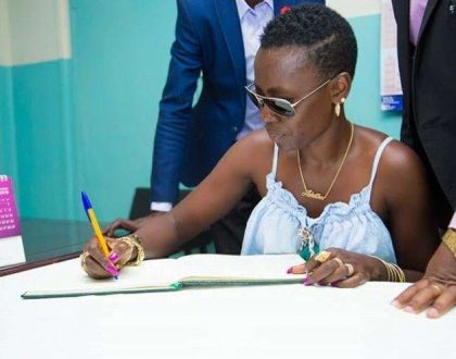 Vaa nguo madam!! Akothee forced to signcontract against nudity after landing in Dubai