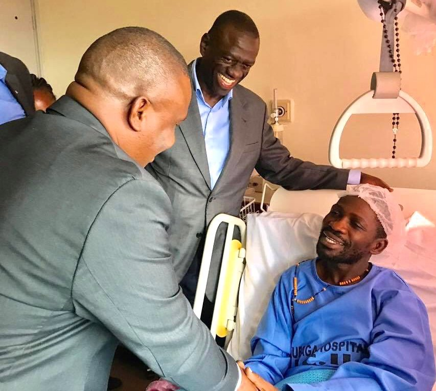 Ugandan pop star MP Bobi Wine flies to USA for treatment