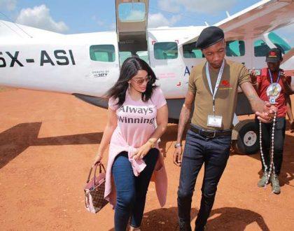 Zari Hassan welcomed like a true heroafter landing in Uganda (Photos)