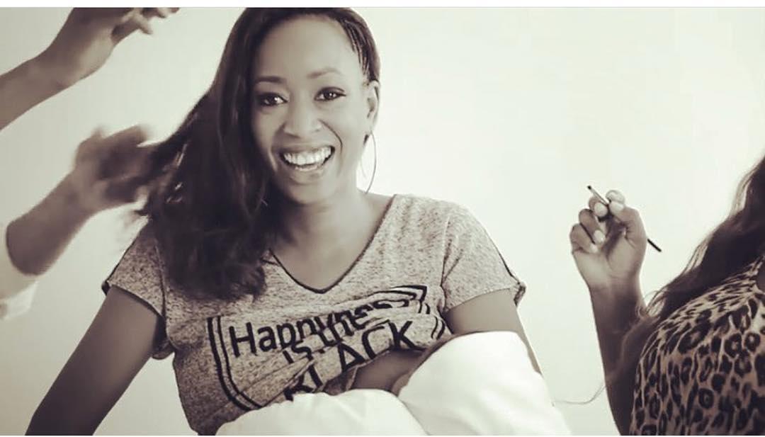 Janet Mbugua breastfeeding her son Ethan Huru Ndichu