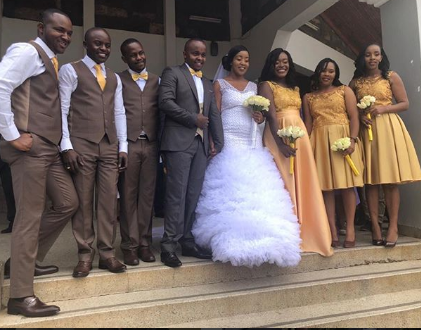 Watch Job Mwaura sing Bahati's song to wife Nancy during their second wedding (video)