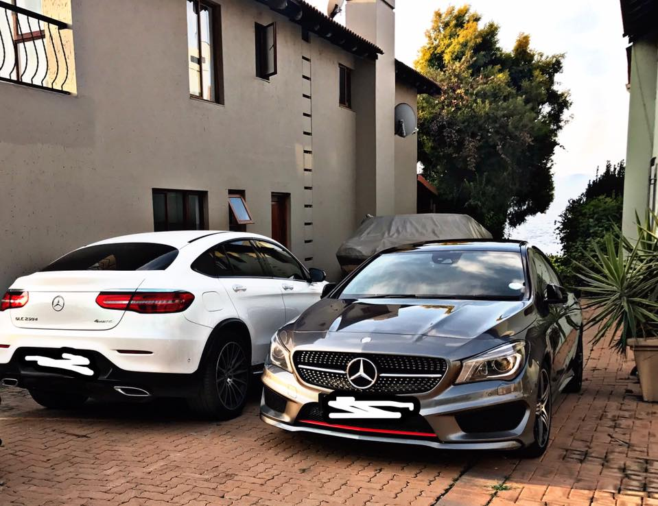 Some of the posh cars Karabo John Moa owns