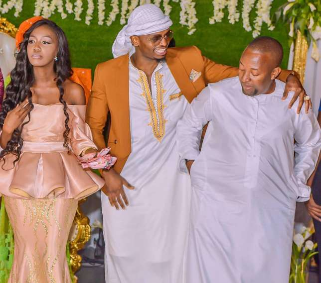L-R: Zamaradi Mketema, Diamond Platnumz and Babu Tale at the party