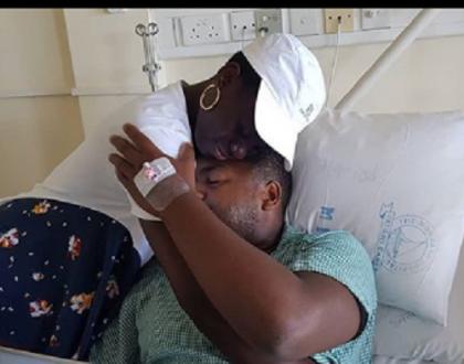 Akothee's boyfriend Nelly Oaks hospitalized after surgery