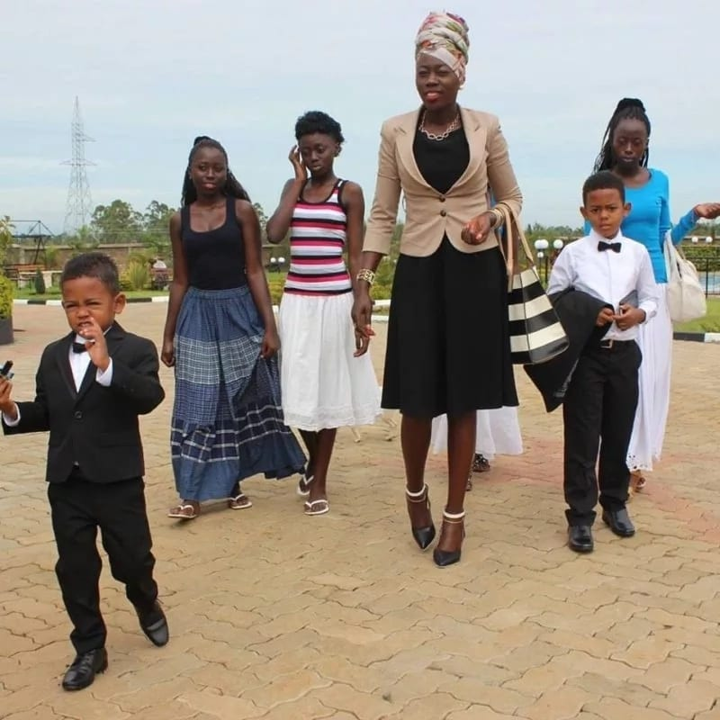 Akothee with her children