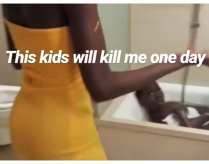 Abomination!Akothee's daughter walks in on her all naked in the bathroom