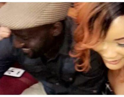 """Sitakupeleka Tandale kama Diamond,ntakupeleka ukule maharagwe unyambe pwi pwi""DJ Shiti and Hamisa Mobetto goof around"
