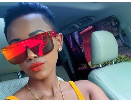 Huddah Monroe gives her fans a partial glimpse of her boyfriend of one year (Photo)